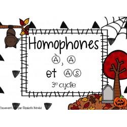 Cartes à tâches : Homophones À, A et AS