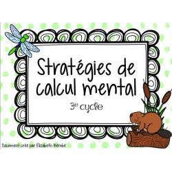 Cartes à tâches :Stratégies de calcul mental