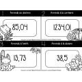 Cartes à tâches : Arrondir des nombres décimaux