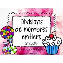 Cartes à tâches : Divisions de nombres entiers