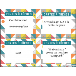 Cartes à tâches - math divers