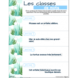 Les classes de mot