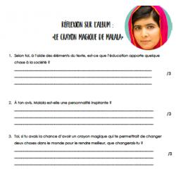 Réflexion sur le crayon magique de Malala
