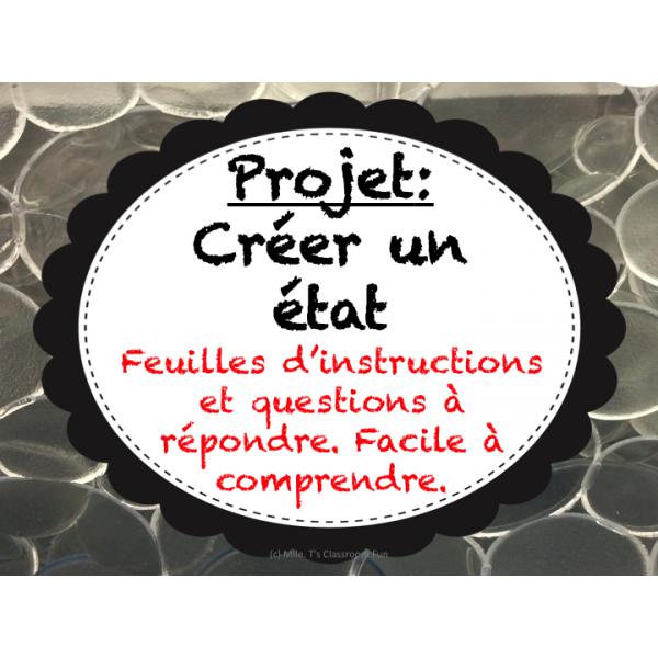 Projet Final - Créer un état