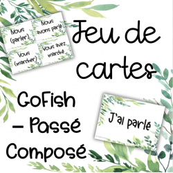 Le passé composé - Go Fish - Jeu de cartes #2