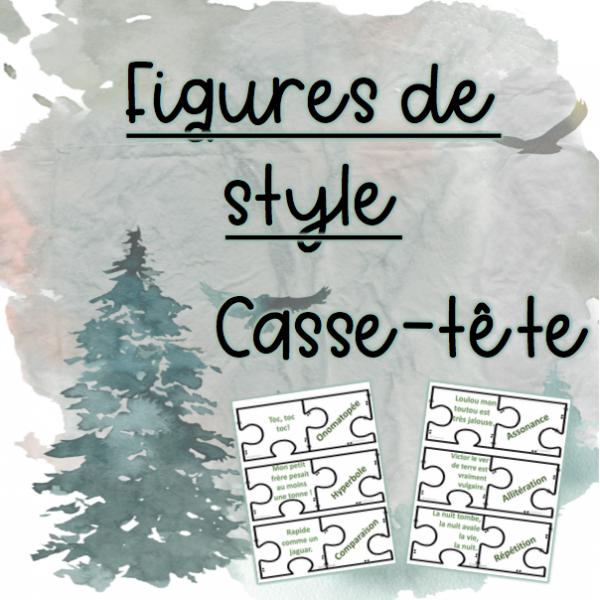 Figures de style - Casse-tête (thème nature)