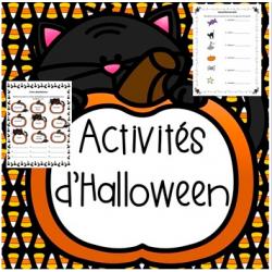 Activités d'Halloween Paquet #1