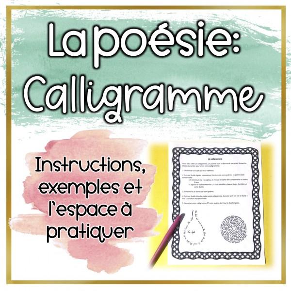 La poésie: Calligramme