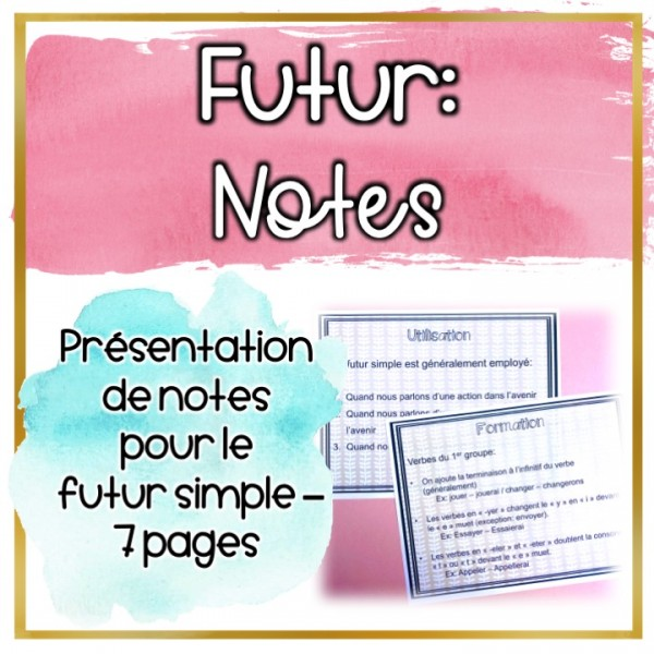 Futur simple - Les notes