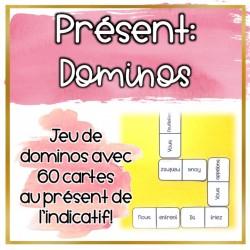 Le présent de l'indicatif - Dominos