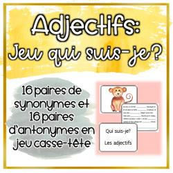 Adjectifs - Jeu d'association (l'accord)