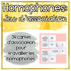 Homophones - Jeu d'association
