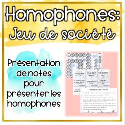 Homophones - Jeu de société