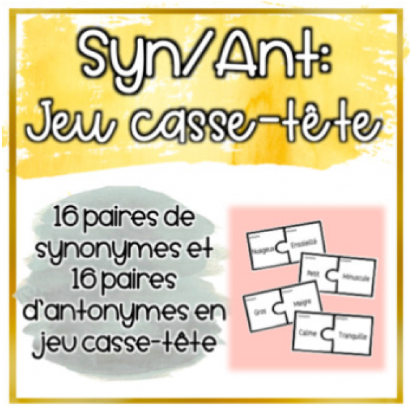 Synonymes/Antonymes - Jeu d'association
