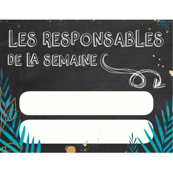 Affiche responsables de la semaine