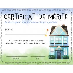 certificat- travail à la maison
