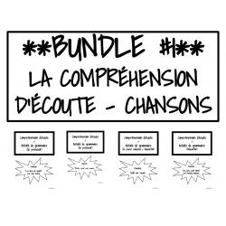 BUNDLE #1 - Chansons comp. d'écoute/grammaire