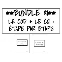 BUNDLE - Le COD + le COI - Étape par étape