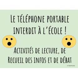 Lecture+débat - Le téléphone portable interdit!