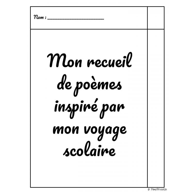 Mon Recueil De Poèmes Voyage Scolaire