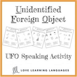UFO paired speaking activity - ESL - ELL