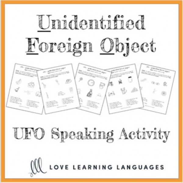 UFO paired speaking activity - ESL - ELL
