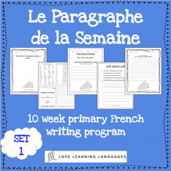 Le paragraphe de la semaine - French writing 1