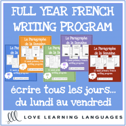 Full year primary French writing program