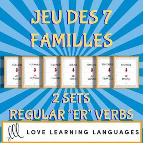 Jeu des 7 familles- Verbes réguliers en ER