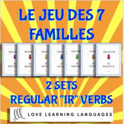 Jeu des 7 familles- Verbes réguliers en IR