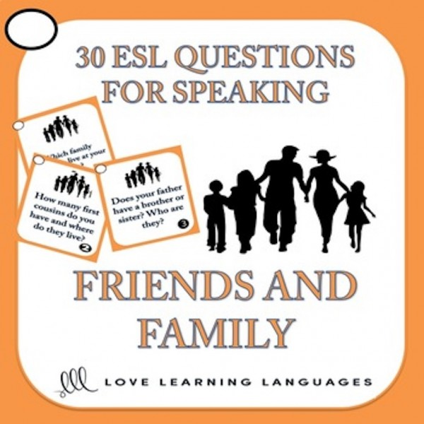 ESL conversation and speaking - Family and Friends
