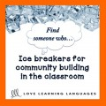 Ice Breaker Activity -Find someone who - ESL