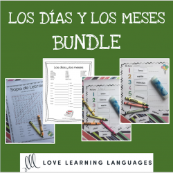 Spanish months days bundle - Los días y los meses