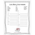 Spanish months days bundle - Los días y los meses