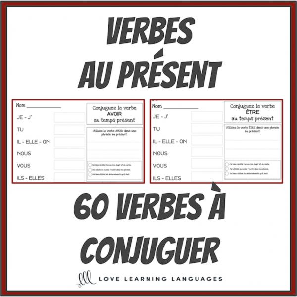 Verbes au présent - 60 verbes français à conjuguer