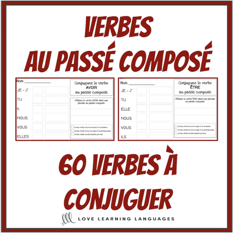Verbes Au Passe Compose 60 Verbes A Conjuguer