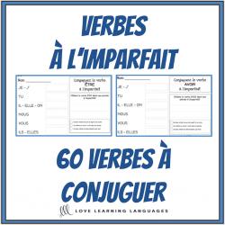 Verbes à l'imparfait - 60 verbes à conjuguer