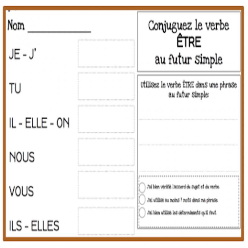 Verbes Au Futur Simple 60 Verbes A Conjuguer