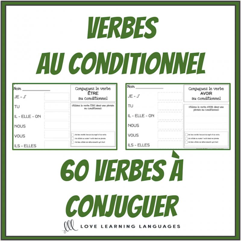 Verbes Au Conditionnel 60 Verbes A Conjuguer
