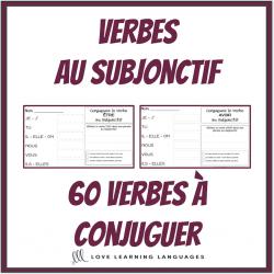 Verbes au subjonctif - 60 verbes à conjuguer