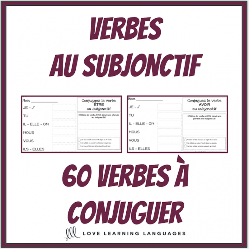 Verbes Au Subjonctif 60 Verbes A Conjuguer