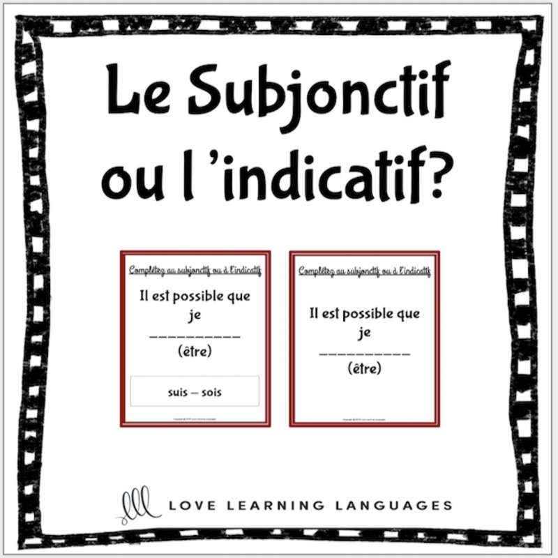 French subjunctive or indicative activities