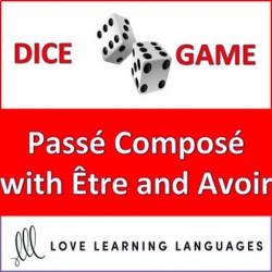French Passé Composé Être Avoir Dice Jeu de Dés