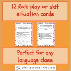 Role plays or skits - Jeux de rôle en anglais