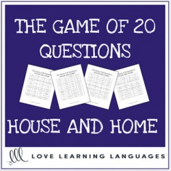 House and Home 20 questions games ESL