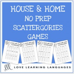 House and home scattergories ESL English
