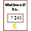 Telling time task cards - ESL - English