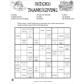 French Thanksgiving Sudoku Puzzles