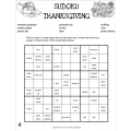 Thanksgiving Sudoku Puzzle in English