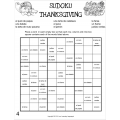Spanish Thanksgiving Sudoku Puzzle